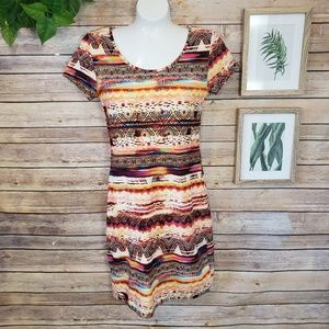 🌿Hot Kiss Multicolored Body Hugging Dress Size S
